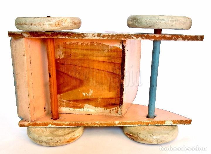 Juguetes antiguos: SILLA SILLITA CARRO CARRITO DE MADERA PARA MUÑECOS Y MUÑECAS. DENIA. AÑOS 40 - Foto 7 - 71743411