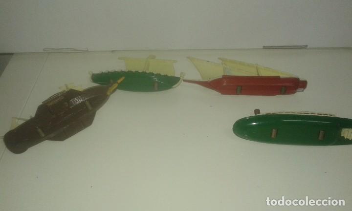 Juguetes antiguos: BARCOS DE PILEN A ESCLA .MADEN IN SPAIN - Foto 3 - 72385151