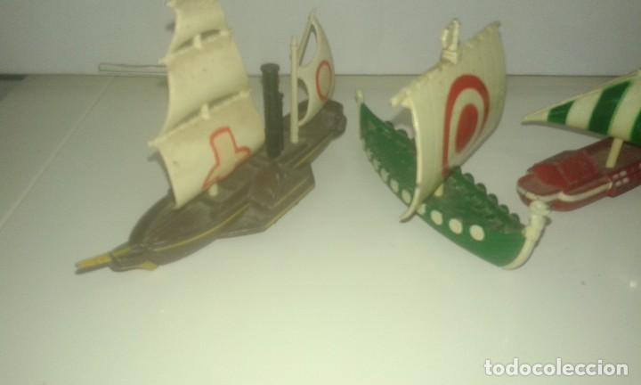 Juguetes antiguos: BARCOS DE PILEN A ESCLA .MADEN IN SPAIN - Foto 6 - 72385151
