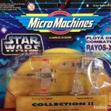 Juguetes antiguos: MICROMACHINES STAR WARS GUERRA DE LAS GALAXIAS COLECCIÓN II. Lote 74736235