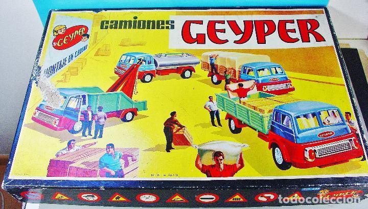 Juguetes antiguos: CAMIONES GEYPER. CAJA GRANDE. REF. 504. CASI COMPLETO - Foto 2 - 74850343