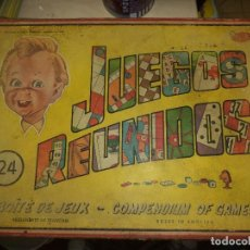 Juguetes antiguos: GEYPER - 24 JUEGOS REUNIDOS GEYPER AÑOS 50.. Lote 75203347