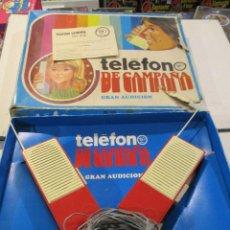 Juguetes antiguos: TELEFONO DE CAMPAÑA RIMA - GRAN AUDICION CON INSTRUCCIONES. Lote 76371219