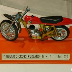 Juguetes antiguos: BULTACO PURSANG MK 4 CROSS DE GUILOY REF 273. Lote 76894219