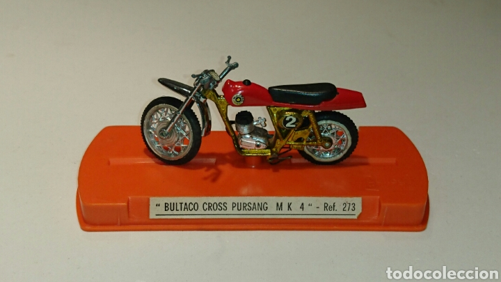 Juguetes antiguos: Bultaco Pursang Mk 4 cross de Guiloy ref 273 - Foto 8 - 76894219