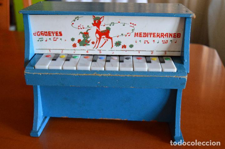 PIANO DE MADERA ** JUGUETES MEDITERRANEO * AÑOS 70 (Juguetes - Marcas Clasicas - Otras Marcas)