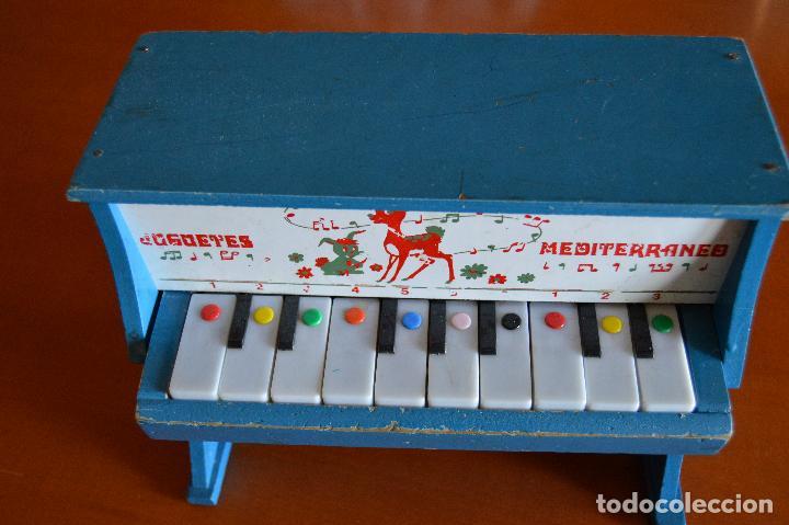 Juguetes antiguos: PIANO DE MADERA ** JUGUETES MEDITERRANEO * AÑOS 70 - Foto 6 - 78155457
