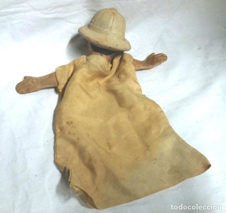 Juguetes antiguos: Guardia Urbano Guiñol Titere Marioneta caucho años 60. Med 26 cm - Foto 2 - 82254428