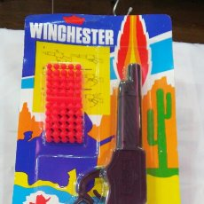 Brinquedos antigos: RIFLE WINCHESTER LANZA BOLAS (24 CM).SHAMBERS SHAMBER'S 80S.NUEVO.. Lote 83370326