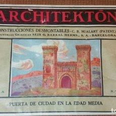 Giocattoli antichi: ARCHITEKTON-CONSTRUCCIONES NUALART-SEIX BARRAL-NUM. 4 PUERTA CIUDAD EDAD MEDIA -VER FOTOS - (V-6193). Lote 87477644