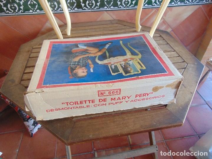 Juguetes antiguos: JUGUETE PARA NIÑA TOILETTE DE MARY PERY DESMONTABLE CON PUFF Y ACCESORIOS - Foto 4 - 89032156