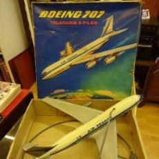 Juguetes antiguos: AVION BOEING 707 TELEDIRIGIDO A PILAS. JOUETS MONT-BLANC EN CAJA ORIGINAL. AÑOS 1970S. Lote 89577380