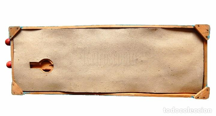 Juguetes antiguos: FANTÁSTICO Y ÚNICO JUEGO DE BOLOS DE MADERA DE DENIA. TIRA BOLAS. AÑOS 40 - Foto 11 - 90670340