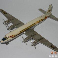 Juguetes antiguos: ANTIGUO AVIÓN PASAJEROS DOUGLAS DC- 7.C DE LA CIA. SCANDINAVIAN AIRLINES SAS DE TEKNO DENMARK 1960S.. Lote 91394080