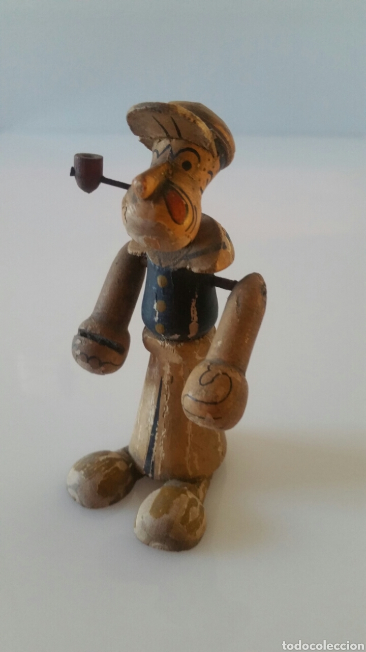 Vendido En Subasta Antiguo Popeye Móviles Goula Madera Tipo Brazos QCeEBrWdxo