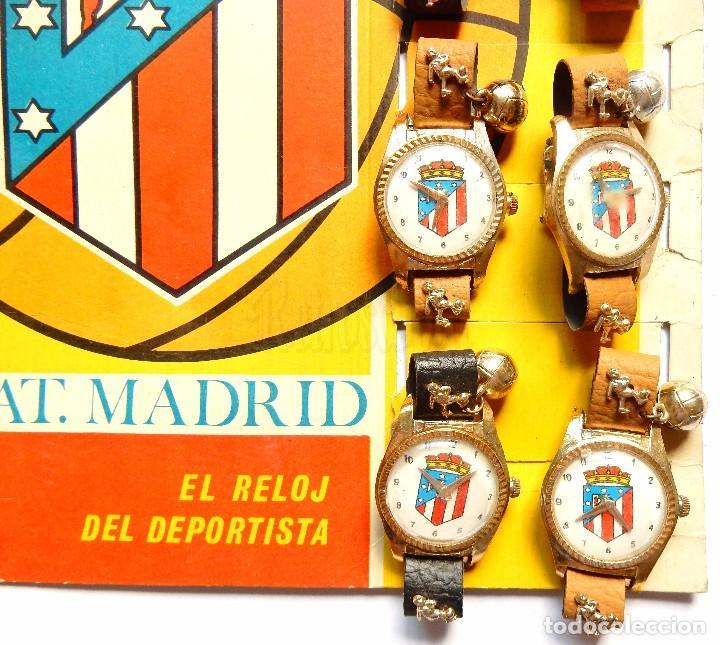 Juguetes antiguos: BLISTER EXPOSITOR DE CARTÓN CON 9 RELOJES DE JUGUETE DEL ATLETICO DE MADRID. GUISVAL FÚTBOL AÑOS 70 - Foto 3 - 91960080