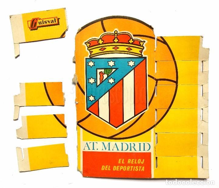Juguetes antiguos: BLISTER EXPOSITOR DE CARTÓN CON 9 RELOJES DE JUGUETE DEL ATLETICO DE MADRID. GUISVAL FÚTBOL AÑOS 70 - Foto 6 - 91960080