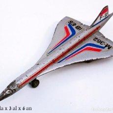 Juguetes antiguos: MIRA REF 363 / 362 AVIÓN CONCORDE F 16 IB ES AIR FRANCIA - METAL 100%. Lote 56664371