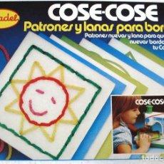 Juguetes antiguos: MADEL: REPUESTO PATRONES Y LANAS DE LA MÁQUINA DE COSER COSE-COSE. MUEVO, SIN ABRIR.. Lote 183254151