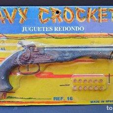 Juguetes antiguos: ÚNICO EN TC JUGUETES REDONDO REF. 16 PISTOLA DE METAL DAVY CROCKETT. Lote 113936066