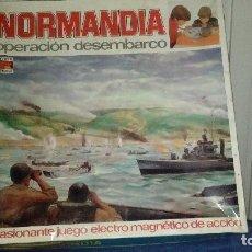 Juguetes antiguos: NORMANDIA OPERACION DESEMBARCO PERMA REEXSA AÑOS 70 JUEGO ELECTRICO MAGNETICO DE ACCION -GRAN TAMAÑO. Lote 95039875