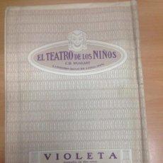 Juguetes antiguos: EL TEATRO DE LOS NIÑOS OBRA COMPLETA VIOLETA MERCADER DE VENECIA SEIX & BARRAL . Lote 95213955