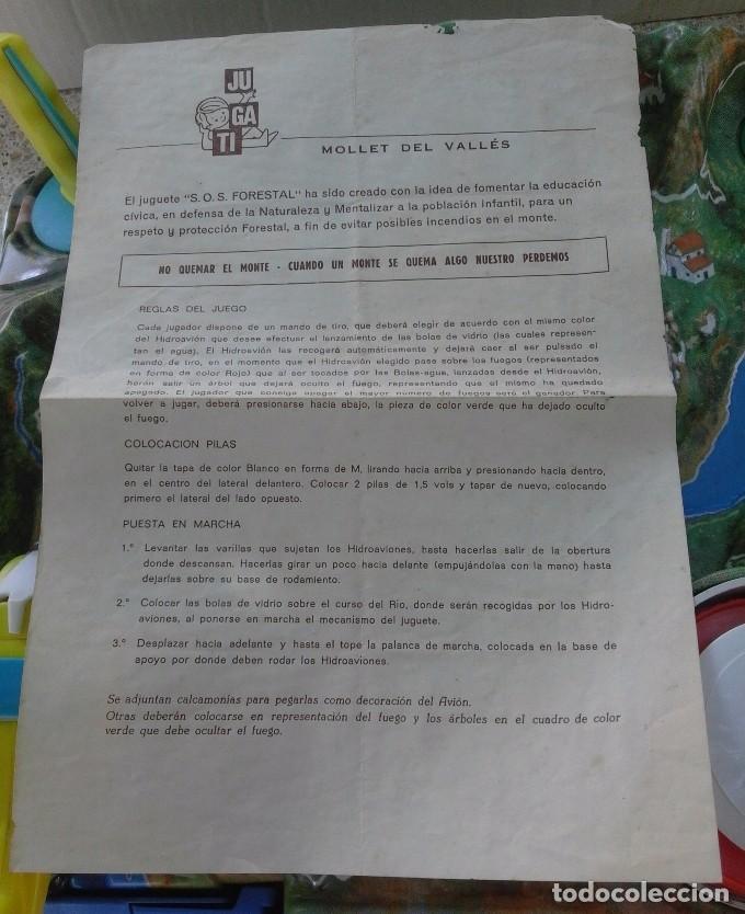 Juguetes antiguos: SOS FORESTAL Nº8 AÑOS 70 - IND. JUGATI - FUNCIONA CORRECTAMENTE - CAJA ORIGINAL 67 X 40,5 X 12 CM - Foto 9 - 95684683