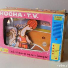 Juguetes antiguos: HUCHA TV BALONCESTO BULLYCAN AÑOS 70 EN CAJA T.V. REF. 6101 BASKET EL AHORRO ES UN JUEGO TELEVISION. Lote 96113567