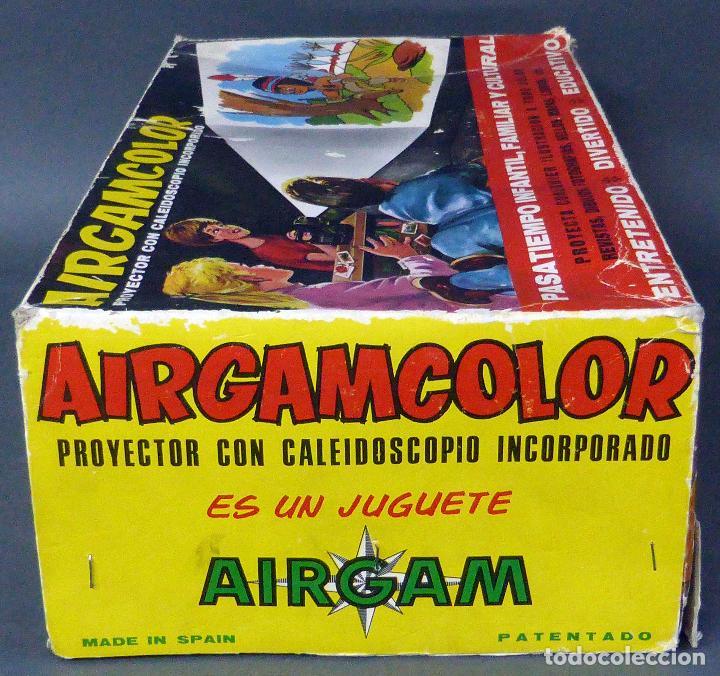 Juguetes antiguos: Airgamcolor Airgam Proyector cine con caleidoscopio caja años 60 Funciona - Foto 2 - 96240971