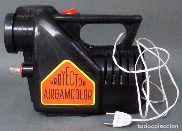 Juguetes antiguos: Airgamcolor Airgam Proyector cine con caleidoscopio caja años 60 Funciona - Foto 5 - 96240971