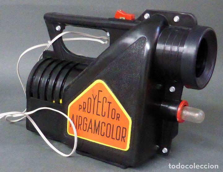 Juguetes antiguos: Airgamcolor Airgam Proyector cine con caleidoscopio caja años 60 Funciona - Foto 6 - 96240971