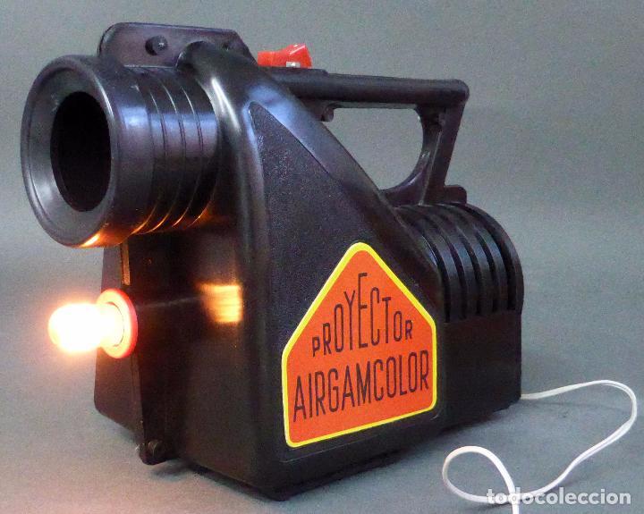 Juguetes antiguos: Airgamcolor Airgam Proyector cine con caleidoscopio caja años 60 Funciona - Foto 8 - 96240971