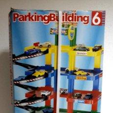 Juguetes antiguos: RIMA-GARAJE PARKING BUILDING 6 PLANTAS-AÑOS 90 + 2 COCHES-PRECINTADO. Lote 96808143