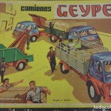 Juguetes antiguos: CAMIONES GEYPER. CAJA ORIGINAL COMPLETA. 52 X 33 CTMS. CAMIONES PARA MONTAR. Lote 96855383