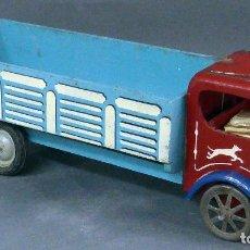 Juguetes antiguos - Camión madera Denia con ruedas plástico y metal años 50 - 98211831