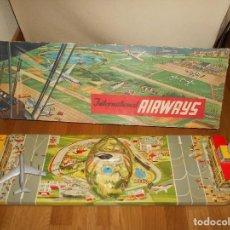 Brinquedos antigos: INTERNATIONAL AIRWAYS HOJALATA AVION WESTERN GERMANY AÑOS 50 TECHNOFIX FUNCIONANDO. Lote 99385387