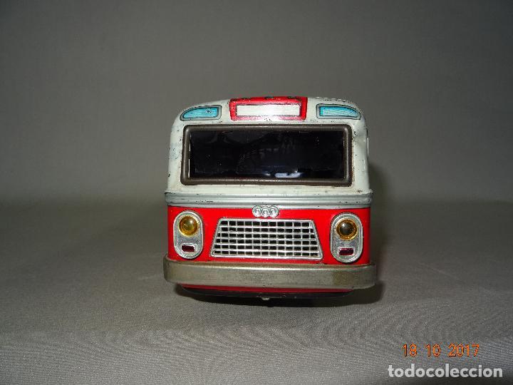 Juguetes antiguos: Antiguo Autobus en Chapa Litografiada de Juguetes EGE Luis Esteve y Cia. SRC de Ibi - Foto 3 - 101025251