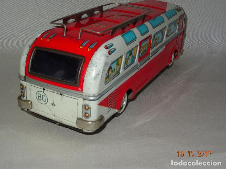 Juguetes antiguos: Antiguo Autobus en Chapa Litografiada de Juguetes EGE Luis Esteve y Cia. SRC de Ibi - Foto 4 - 101025251