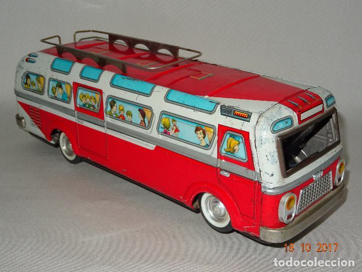 Juguetes antiguos: Antiguo Autobus en Chapa Litografiada de Juguetes EGE Luis Esteve y Cia. SRC de Ibi - Foto 5 - 101025251