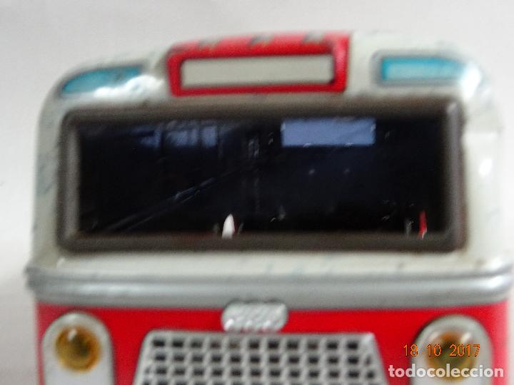 Juguetes antiguos: Antiguo Autobus en Chapa Litografiada de Juguetes EGE Luis Esteve y Cia. SRC de Ibi - Foto 6 - 101025251