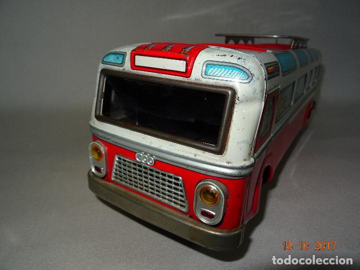 Juguetes antiguos: Antiguo Autobus en Chapa Litografiada de Juguetes EGE Luis Esteve y Cia. SRC de Ibi - Foto 10 - 101025251