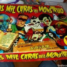 Juguetes antiguos: JUEGO NO COMPLETO LAS MIL CARAS DEL MONSTRUO AIRGAM. Lote 101143110