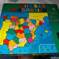 Juguetes antiguos: PUZZLE NO COMPLETO MAPA ESPAÑA RIMA. Lote 101143591