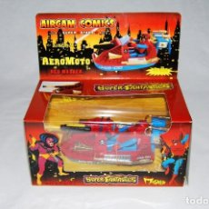 Juguetes antiguos: AIRGAM AIRGAM COMICS SUPER FANTASTICS AERO MOTO SUPERFANTASTICS AEROMOTO RED MASKER SPIDERMAN. Lote 101149855