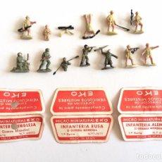 Juguetes antiguos: LOTE SOLDADOS Y CARTONES EKO . Lote 101270939