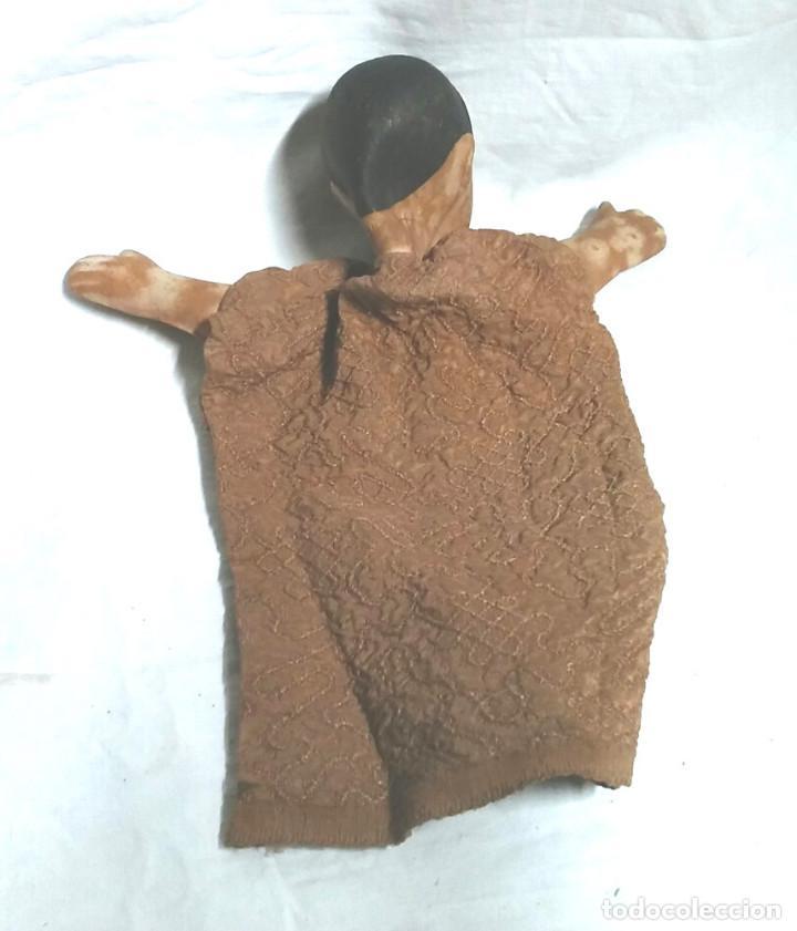 Juguetes antiguos: Guiñol Titere Marioneta caucho años 60. Med 26 cm - Foto 2 - 103366987