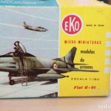 Juguetes antiguos: EKO, AVIÓN, ESCALA 1:150 FIAT G-91 EN CAJA ORIGINAL. INFORMACIÓN Y FOTOS.. Lote 103481267