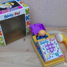 Juguetes antiguos: TELEFONO TELERIN DOLL KUXAN NUEVO EN CAJA ORIGINAL. Lote 103734911