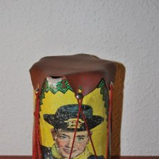 Juguetes antiguos: TAMBOR DE CARTÓN Y GOMA DE RIN TIN TIN - AÑOS 50 - XAFMAS. Lote 104345143