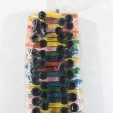 Juguetes antiguos: BOLSA CON 25 COCHES BOLIDOS FORMULA 1 PLASTICO 8 CM LARGO ¿VAM ZARAGOZA? NUEVOS. Lote 105502551